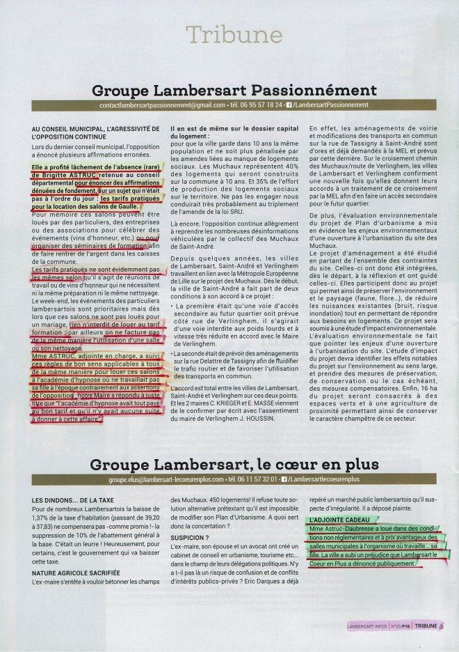 2018-05-04 Lambersart Infos n° 20 Tribune