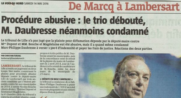 2016-05-14 Procédure abusive Daubresse condamné