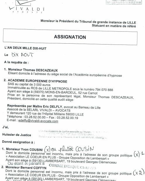 2018-08-10 Assignationen en référé YC-BC
