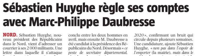 2018-11-13 Sébastien HUYGHE règle ses comptes avec Marc-Philippe DAUBRESSE