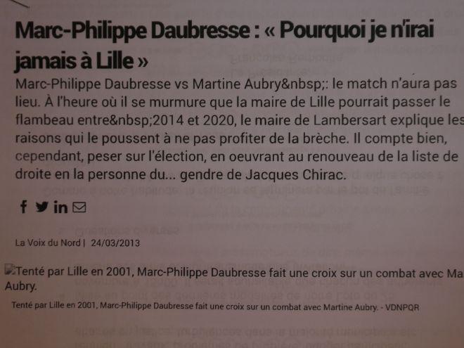 2013-03-24 VDN Daubresse n'ira pas à Lille