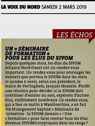 2019-03-02 Les échos Séminaire de formation pour les élus au SIVOM