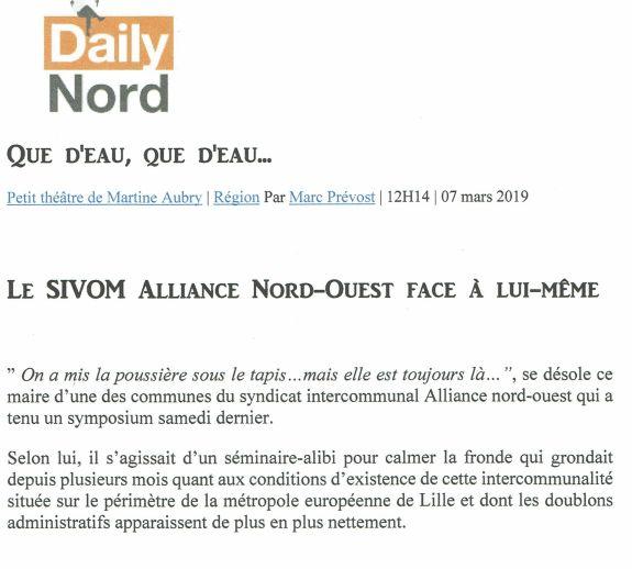 2019-03-07 Daily Nord Sivom face à lui même