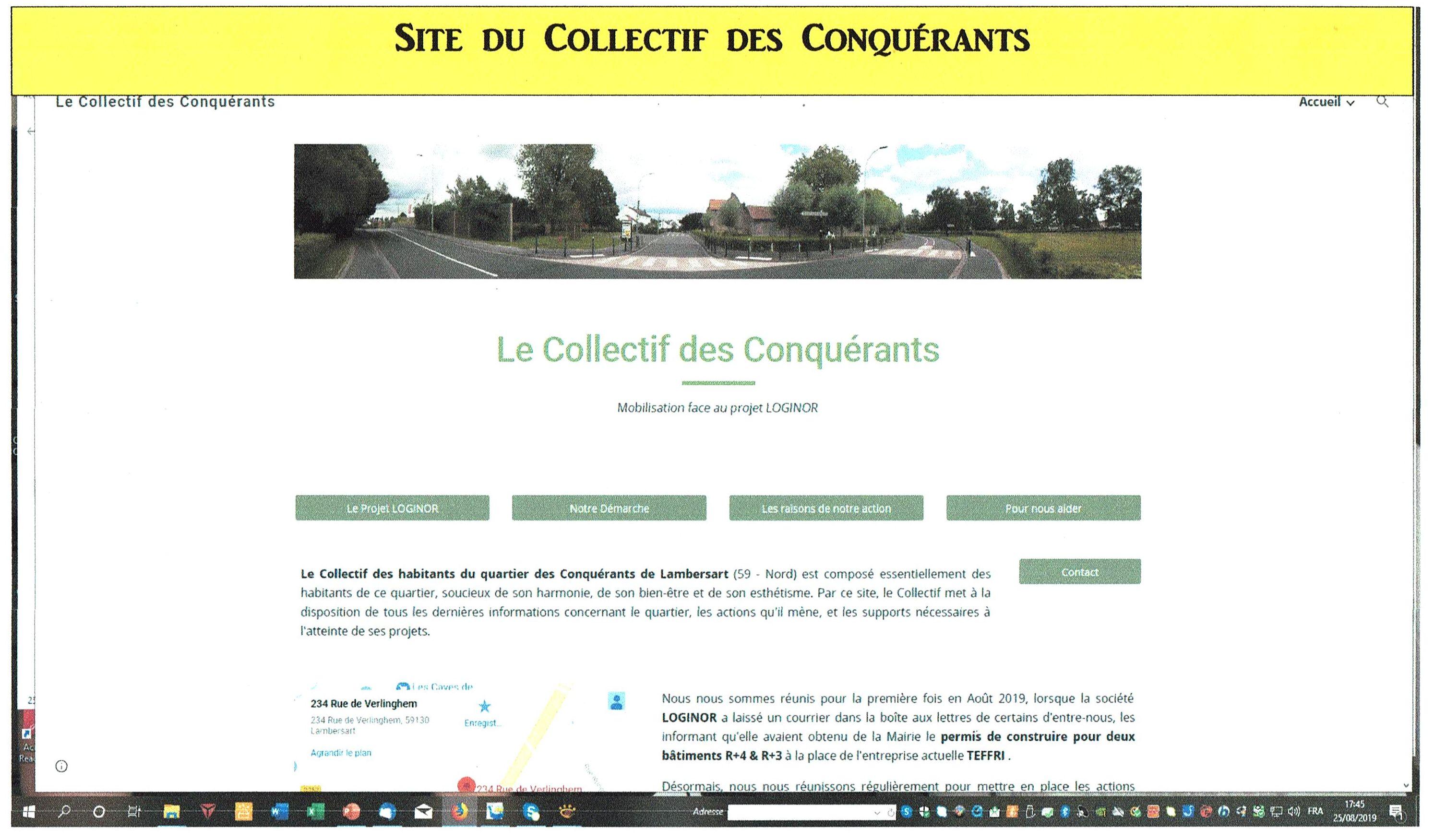 Site Internet du Collectif des Conquérants