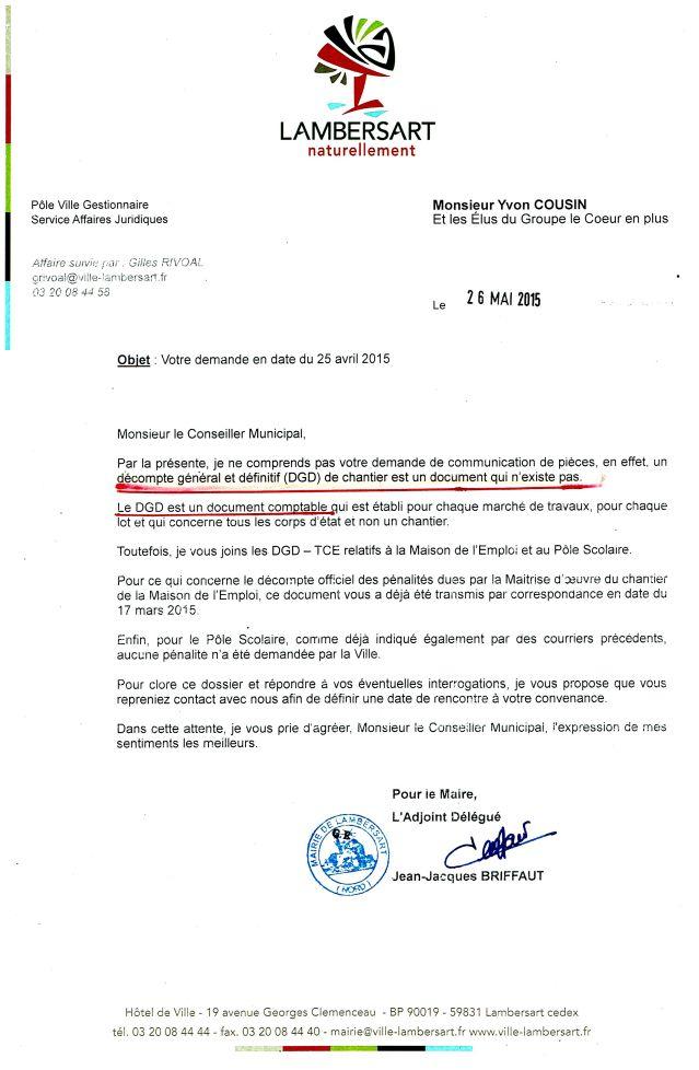 2015-05-26 Lettre DGD inexistant Mainson Emploi