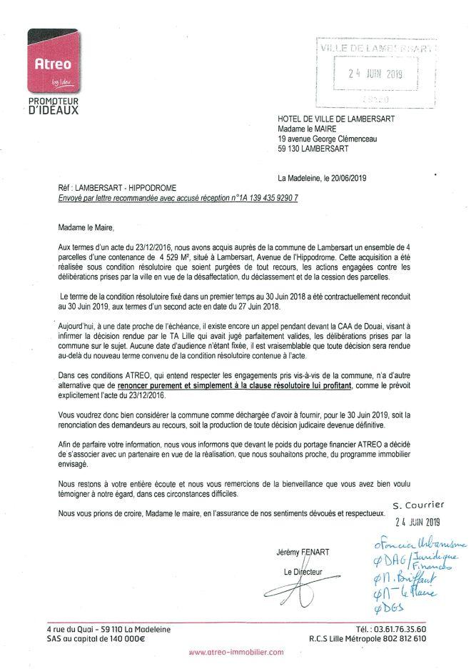 2019-06-24 Lettre ATREO