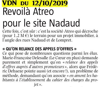 2019-10-12 Relance des Appels d'offres