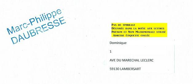 Enveloppe Dominique